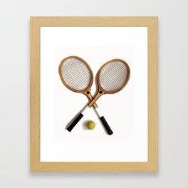 vintage Tennis rackets and ball Framed Art Print