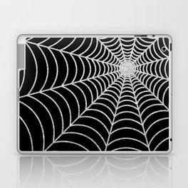 Spiderweb | Silver Glitter Laptop & iPad Skin