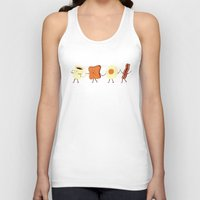 new york skyline Tank Tops featuring Let's All Go And Have Breakfast by Teo Zirinis