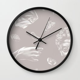 Broken Statues Wall Clock