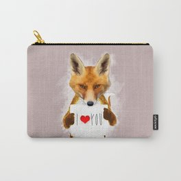 Fox I Love You Carry-All Pouch