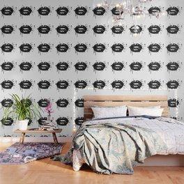 Black and white glamour fashion lips Wallpaper