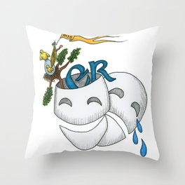 Monty Python, Comedy and Tragedy Throw Pillow
