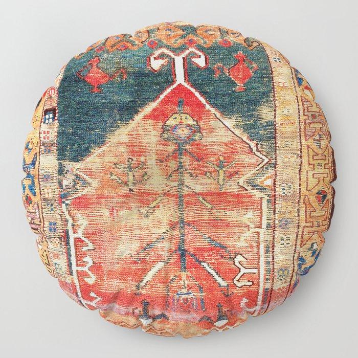 Konya Central Anatolian Niche Rug Print Floor Pillow