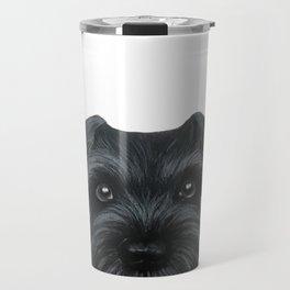 Black Schnauzer, Dog illustration original painting print Travel Mug
