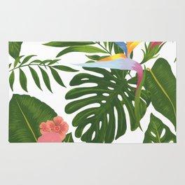 Jungle Floral Print Rug