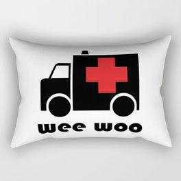 Ambulance Wee Woo Rectangular Pillow