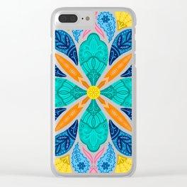 Bright Bohemian Mandala Clear iPhone Case