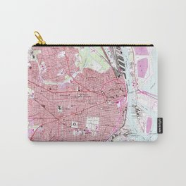 Vintage Map of Mobile Alabama (1953) Carry-All Pouch