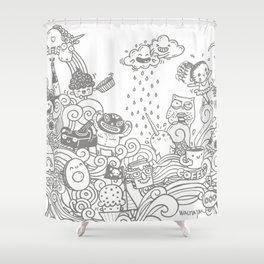 walmazan world Shower Curtain