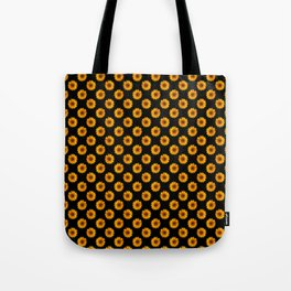 90s Black and Yellow Daisies Tote Bag