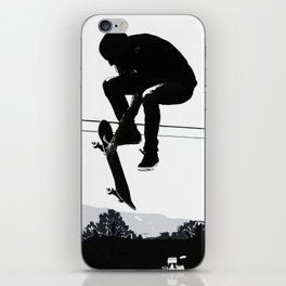 Flying High Skateboarder iPhone Skin