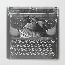 Vintage Typewriter - Before Email Metal Print
