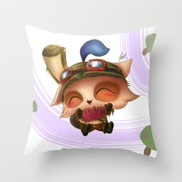 The Mushroom Scout! Throw Pillow