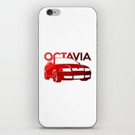 Skoda Octavia - classic red - iPhone Skin