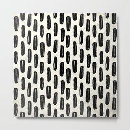 Ivory Vertical Dash Metal Print
