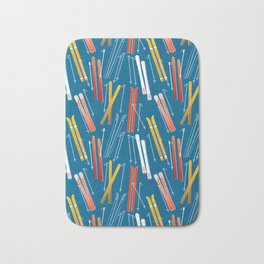 Colorful Ski Pattern Bath Mat