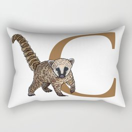 C for Coati Rectangular Pillow