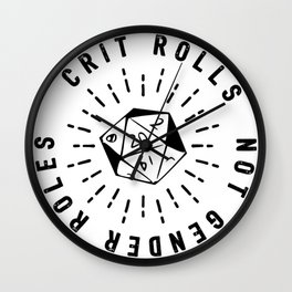 Crit Rolls / Not Gender Roles Wall Clock