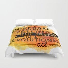 Revolutionary Act - quote design Duvet Cover