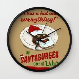 Santa Burger Wall Clock