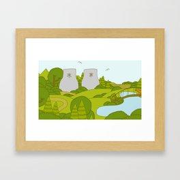 Park & Radiation Framed Art Print