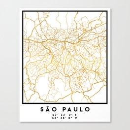 SAO PAULO CITY STREET MAP ART Canvas Print