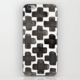 Black & White Crosses - Katrina Niswander iPhone Skin