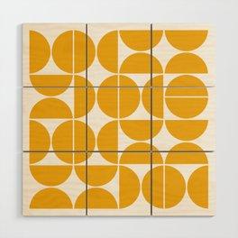 Mid Century Modern Geometric 04 Yellow Wood Wall Art