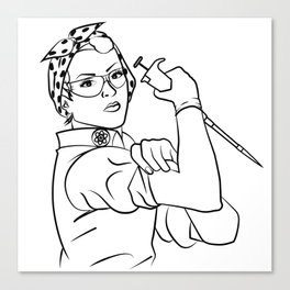 Rosie the Researcher Canvas Print