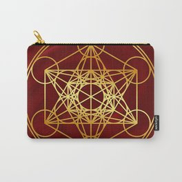 Metatrons Cube, Flower of life, Sacred Geometry Carry-All Pouch
