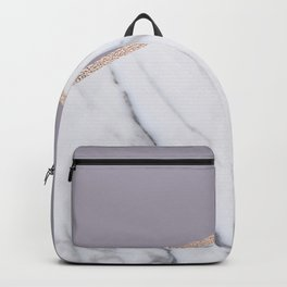 Smokey lilac - rose gold geometric marble Backpack