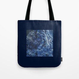 Structure in wood. Wood knots in cobalt blue Tote Bag