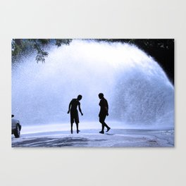 TAUNTING THE GIANT Canvas Print