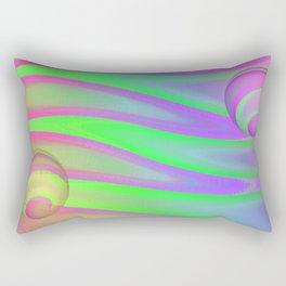 Colors swimming on grey Rectangular Pillow