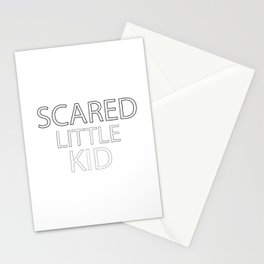 Scared Little Kid Stationery Cards