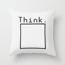 Outside the Box Throw Pillow