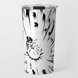 Large Chrysanthemum - BWScale Travel Mug