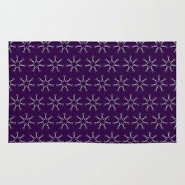 Scissors Star (royal purple) Rug