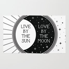Live by the Sun Love by the Moon Rug