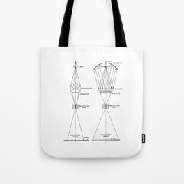 Vintage Line Drawing on Photographic Enlargers Tote Bag