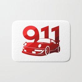 Porsche 911 - classic red - Bath Mat