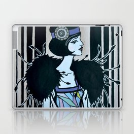 Melancholic flapper Laptop & iPad Skin