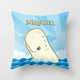 Moby Dick Throw Pillow