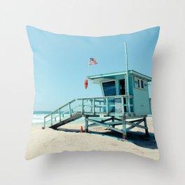 Rosecrans Tower in Manhattan Beach (El Porto) Throw Pillow