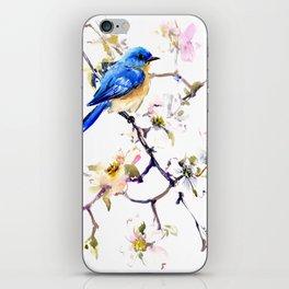 Bluebird and Dogwwod iPhone Skin