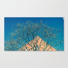 Fantasía (en azul y amarillo) Canvas Print