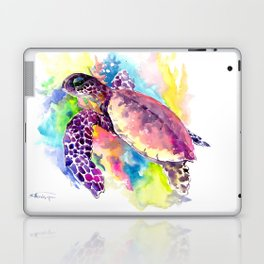 Sea Turtle in Coral Reef Laptop & iPad Skin