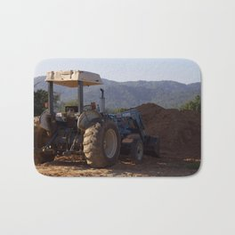 Tractor Looks Longing Over Mountain View Bath Mat