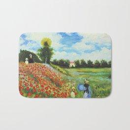 Claude Monet - Poppy Field at Argenteuil Bath Mat